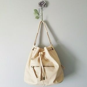 🍃 F21 | Faux Leather Drawstring Bucket Purse